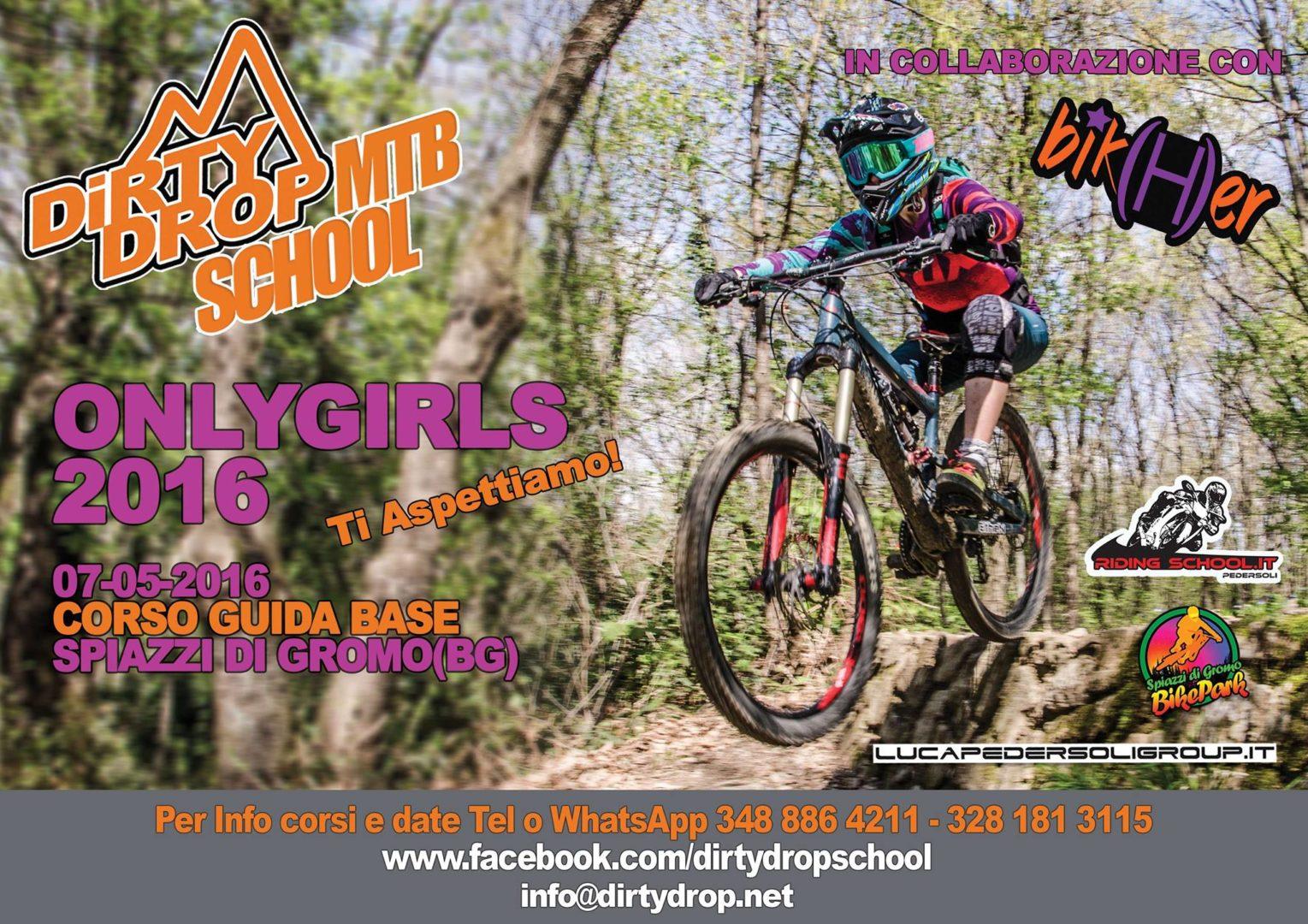 corso DH per ragazze Bik(H)er Dirty Drop MTB School Spiazzi di Gromo Bike Park